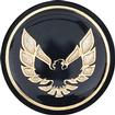1976-81 Firebird Shift Button Emblem-Black With Gold