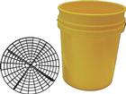 OER® Authorized Grit Guard 5 Gallon Yellow Bucket With Grit Guard