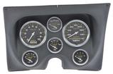 1967-68 Camaro / Firebird 6-Gauge Smooth Black Dash Panel Kit with Carbon Fiber Series Gauges