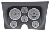 1967-68 Camaro / Firebird 6-Gauge Smooth Black Dash Panel Kit with Ultra Lite II Series Gauges