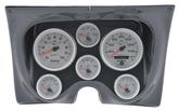 1967-68 F-BODY 6 GAUGE DASH PANEL KIT - ULTRA LITE II GAUGES - CARBON FIBER PANEL