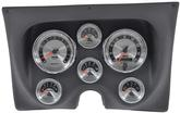 1967-68 F-BODY 6 GAUGE DASH PANEL KIT - AMERICAN MUSCLE GAUGES - BLACK PANEL