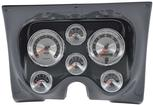 1967-68 F-BODY 6 GAUGE DASH PANEL KIT - AMERICAN MUSCLE GAUGES - CARBON FIBER PANEL