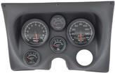 1967-68 Camaro / Firebird 6-Gauge Smooth Black Dash Panel Kit with ES Series Gauges
