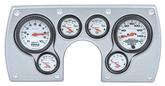 1982-89 Camaro 6 Gauge Brushed Aluminum ABS Dash Panel Kit with Phantom Series Gauges