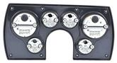 1982-89 Camaro 6 Gauge Brushed Aluminum ABS Dash Panel Kit with Carbon Fiber Series Gauges