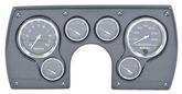 1982-89 Camaro 6 Gauge Simulated Carbon Fiber ABS Dash Panel Kit with Carbon Fiber Series Gauges