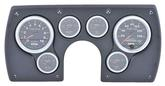 1982-89 Camaro 6 Gauge Black ABS Dash Panel Kit with Sport Comp II Series Gauges