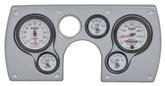 1982-89 Camaro 6 Gauge Brushed Aluminum ABS Dash Panel Kit with Phantom II Series Gauges