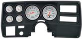 1973-83 GM Truck (Wiper Switch on Dash) 6 Gauge Black Dash Panel Kit with Ultra Lite Series Gauges