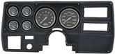 1973-83 GM TRUCK 6 GAUGE DASH PANEL KIT W/WIPER SWITCH - CARBON FIBER LARGE GAUGES - BLACK  PANEL