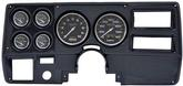 1973-83 GM TRUCK 6 GAUGE DASH PANEL KIT W/WIPER SWITCH -CARBON FIBER LARGE GAUGES-CARBON FIBER PANEL