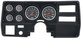 1973-83 GM Truck (Wiper Switch on Dash) 6 Gauge Black Dash Panel Kit with Sport Comp Series Gauges