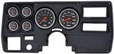 1973-83 GM Truck (Wiper Switch on Dash) 6 Gauge Carbon Dash Panel Kit with Sport Comp Series Gauges