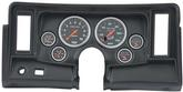 1969-76 Nova 6 Gauge Black Dash Panel with Cutouts and Sport Comp Gauges