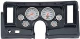 1969-76 Nova 6-Gauge Simulated Carbon Fiber Dash Panel with Cutouts, with Ultra Lite Series Gauges