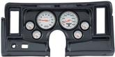 1969-76 Nova 6-Gauge Simulated Carbon Fiber Dash Panel with Cutouts, with Phantom Series Gauges