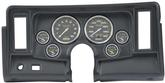1969-76 Nova 6-Gauge Black Dash Panel with Cutouts, with Carbon Fiber Series Gauges
