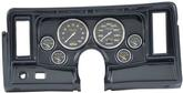 1969-76 Nova 6 Gauge Dash Panel Kit W/Heater / AC Vent Cutouts Carbon Fiber Gauges Carbon Fiber