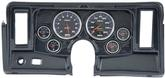 1969-76 Nova 6 Gauge Dash Panel Kit W/Heater / AC Vent Cutouts With Cobalt Gauges Carbon Fiber