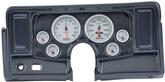 1969-76 Nova 6-Gauge Carbon Fiber Dash Panel without Cutouts, with Ultra Lite II Series Gauges