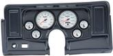 1969-74 NOVA 6 GAUGE DASH PANEL KIT W/O HEATER / AC VENT CUTOUTS WITH PHANTOM II GAUGES CARBON FIBER