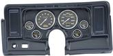 1969-74 NOVA 6 GAUGE DASH PANEL KIT W/O HEATER / AC VENT CUTOUTS WITH CARBON FIBER GAUG CARBON FIBER