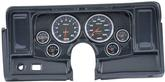 1969-76 Nova 6-Gauge Simulated Carbon Fiber Dash Panel without Cutouts, with Cobalt Series Gauges