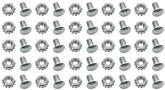 Grill Attaching Rivet with Nut Set of 25 - Silver