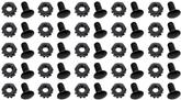 {year} {make} {model} Rivet Head Bolt with Nut; Set of 25; Black