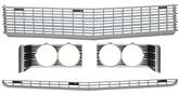 1969 Impala / Full Size Front Grills with Headlamp Bezels Set