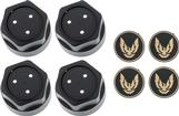 1982-92 GTA Wheel Cap Kit - 0mm - Gold Emblem for 1967-81 Firebird models