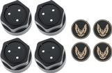 1982-92 GTA Wheel Cap Kit - 0MM/16MM - Gold Emblem