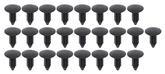 "Nylon Push-In Retainer Clip 5/16"" Black - Bulk Set Of 25 Pcs"