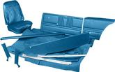1968 CAMARO STANDARD CONVERTIBLE COMPLETE INTERIOR KIT W/PRE-ASSEMBLED DOOR PANELS MEDIUM BLUE