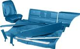 1968 CAMARO STANDARD CONVERTIBLE COMPLETE INTERIOR KIT W/BENCH SEAT PRE-ASSEMBLED PANELS MEDIUM BLUE