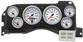 1987-89 Mustang 6-Gauge Smooth Black Dash Panel Kit with AutoMeter Ultra Lite II Series Gauges