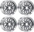 "1993-02 Firebird / Trans AM 17"" X 9"" Cast Aluminum Snowflake Wheel Set With Gunmetal accents"