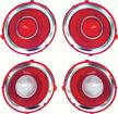 1970-71 Camaro RS Tail Lamp/Back Up Lens Kit with Chrome Trim Ring (1st Design)
