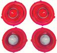 1971-73 Camaro Standard Tail Lamp/Back Up Lens Kit without Chrome Trim Ring (2nd Design)