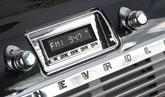 1947-53 GM Truck Laguna AM/FM Radio - Chrome Radio, with Buttons, Knobs and Chrome Radio Bezel