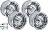 "1967-70 Chevrolet Truck; 71-76 Impala/Full-size - 15"" X 8"" Standard Style Silver Rally Wheel Kit"