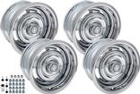 "1967-70 Chevrolet Truck 15"" X 8"" / 15"" X 10"" Mixed Standard Style Chrome Rally Wheel Kit"