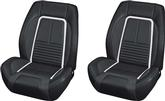 1967 CAMARO SPORT R FRONT BUCKET SEAT KIT WITH DELUXE INTERIOR - BLACK STITCHING
