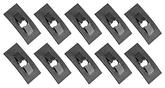 "Push On Flat Nut, Fits 1/16"" Stud, Black Phosphate Coated, 10 Piece Set"