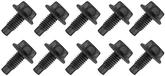 "BOLT, 5/16-18 X 3/4"" Dog Point Tip With Hex Washer Head, Black Phosphate, 10 Piece Set"