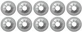 "Round Push On Flat Nut, Fits 1/8"" Stud Size, Zinc Plated, 10 Piece Set"