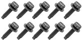 "Bolt, 1/4-20 x 1"" Dog Point Tip With Free Spinning Washer, Black Phosphate, 10 Piece Set"