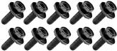 "Bolt, 5/16-18 x 1"" Flat Tip With Free Spinning Washer, Black Phosphate, 10 piece Set"