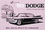 1960 DODGE OWNERS MANUAL